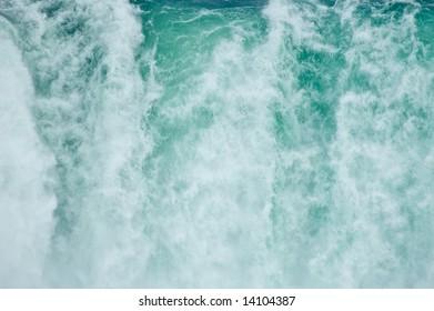 Water falling down in Niagara Falls