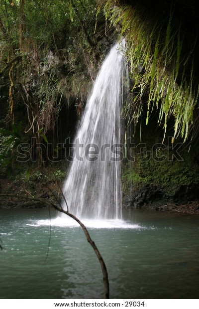 water falls are prevelent and beautiful on the island of maui in hawaii