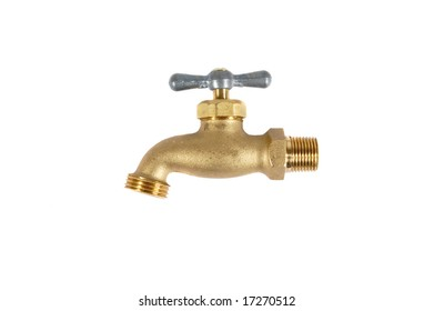 Water Faucet isolated on a white background