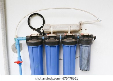 water filter system, filtration purifier and drinking clean water use treatment bottle or reverse osmosis