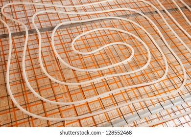 water floor heating system (underfloor heating)