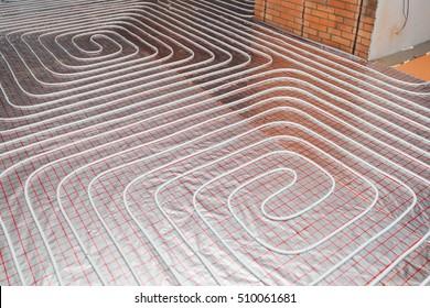 water floor heating system, underfloor heating