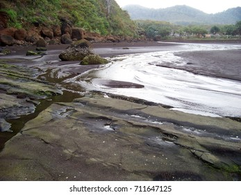 Water flow at the beach.
