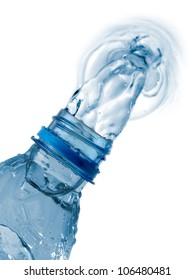 Water flow from a bottle
