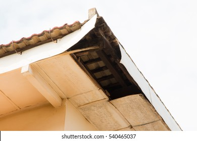 The water flow into the groove. The water flow to the attic. Make moldy ceiling