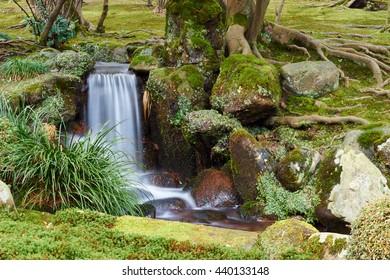 Water Flow In Japanese Garden