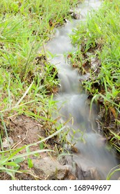 Water flow paths Enters the field with cultivation.