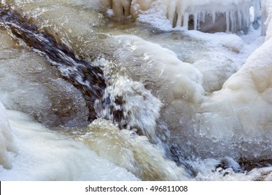 Water flowing in the ice
