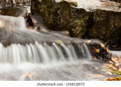 Water flowing over rocks in small creek