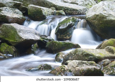 Water flowing over rocks - South Africa