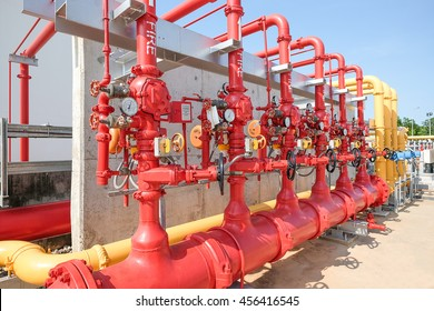 Water and foam line for fire protection system in fuel oil storage area of power plant