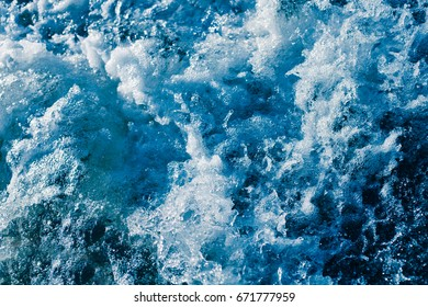 Water with foam and spray