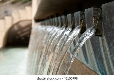 Water Fountain along San Antonio Riverwalk