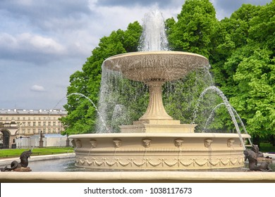 Water fountain in the city