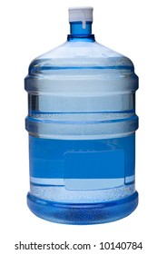 water gallon on white clipping path included