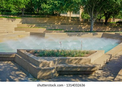 The Water Garden Fountains in Fort Worth, Texas