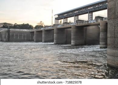Water gate of Dam in Thailand