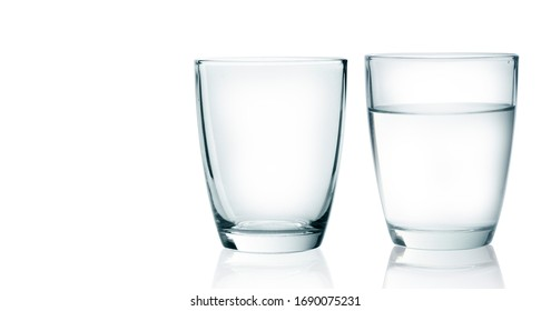 Water glass isolated on with background clipping path included