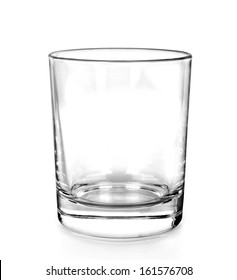 Water glass, isolated on white