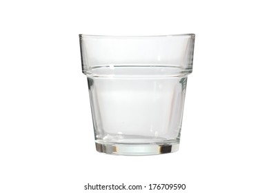 Water glass isolated on white background.