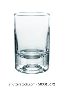 water glass isolated on white background