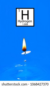 Water has been created using hydrogen and fire.