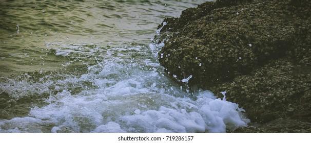 Water hit shore.