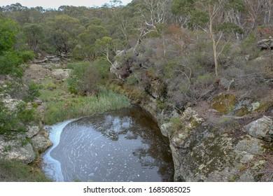 Water hole surrounded by Australian bushland