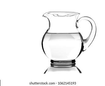 Water jug on pure white background