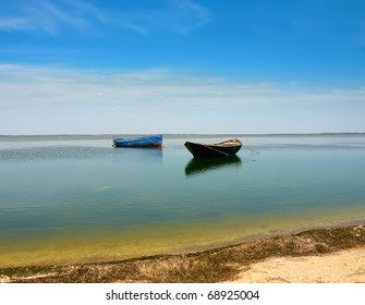 water landscape with boat