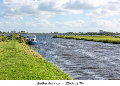 Water landscape of the Kagerplassen in South Holland The Netherlands.