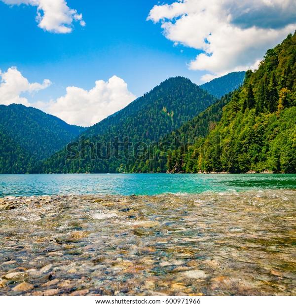 Water landscape.  Lake. beautiful landscape