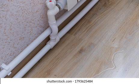 water leak through the heating radiator tube nut. water leaking from the valve