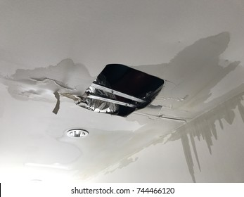 water leakage on the ceiling