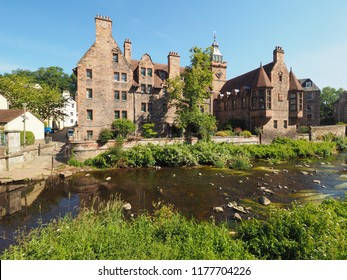 The Water of Leith river in Dean village in Edinburgh, UK