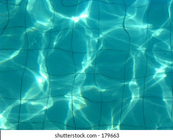 Water light reflection swimming pool