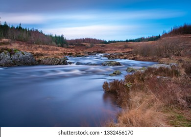 Water from Loch Enoch which flows into Loch Doon in Galloway Forest North Ayrshire, taken with filters for long exposure