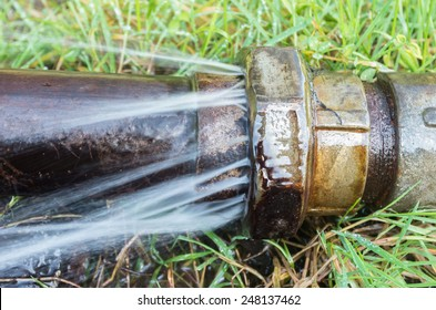 water loss caused by a bad pipe connection
