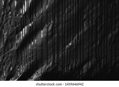 water mark on black canvas, abstract texture for background, scary and dark concept