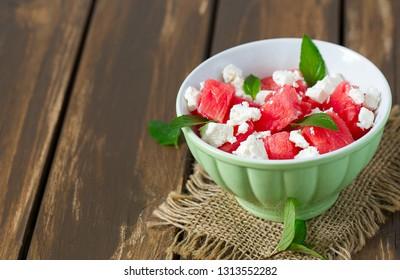water melon and feta salad