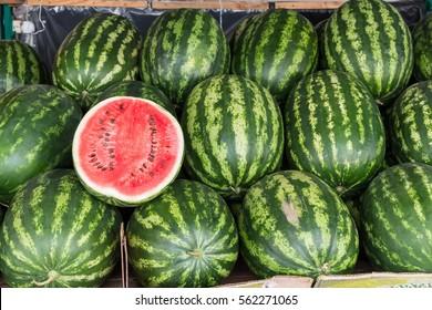 Water melon at fruit market