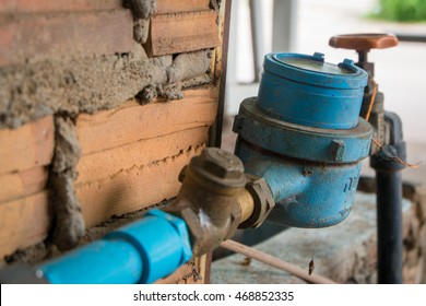water meter and valve