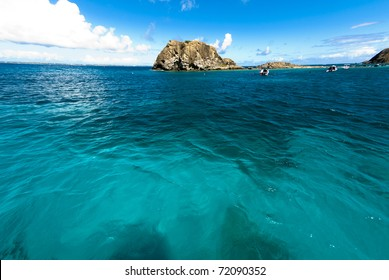 The water near the french cul de sac on St. Martin was extremely inviting.