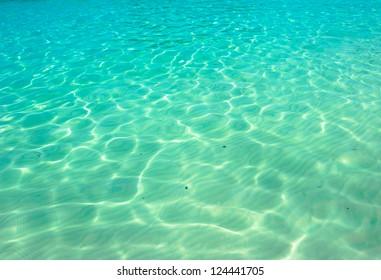 Water ocean background. Clear blue ripple aqua texture