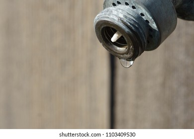 water out of old water spigot
