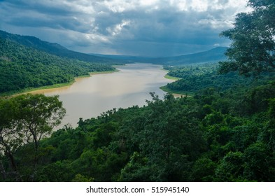 Water over the dam, Pak Thong Chai district. Thailand