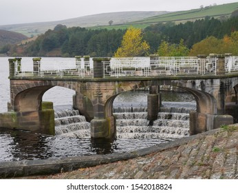 Water overflow at Digley reservoir above Holmfirth Huddersfield Yorkshire England 15/10/2019 by Roy Hinchliffe