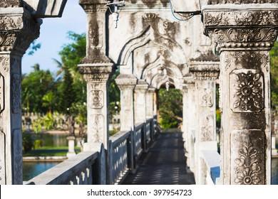 Water Palace detail in Candidasa, Bali