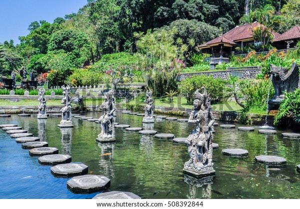 Water Palace of Tirta Gangga, Tirta Gangga is a popular beautifull water Palace.   in East Bali, Karangasem, Indonesia