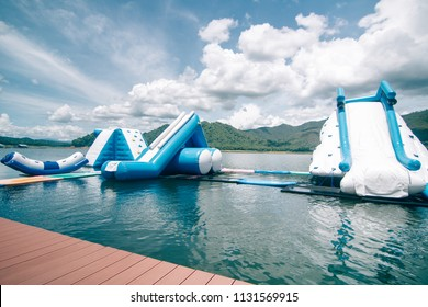 Water park In the lake